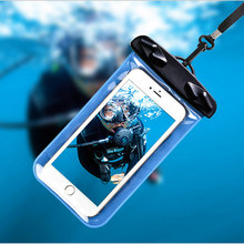 Waterproof Pouch For Samsung Galaxy Y Duos S6102 Water Proof Diving Bags Outdoor Phone Case Underwater Phone Bag with Neck Strap(China)