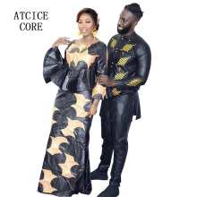 african dress for woman and man bazin riche embroidery design dress couple design