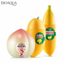 3Pcs/lot Fruit Banana Peach Mango Hand Cream Moisturizing Whitening Nourishing Anti-chapping Hand Care Lotions Skin Defender
