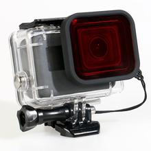 Underwater Undersea Diving Red Camera Lens Filter for Gopro Hero 5 Waterproof Case Camcorder Len Filter Accessories