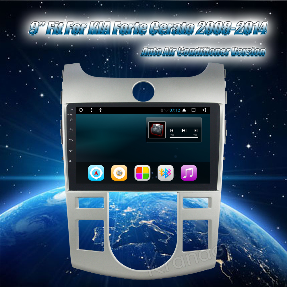Krando kia forte cerato Android car radio gps navigation multimedia system (1)