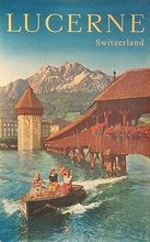 Boat at the beach Seaview Mountain View Switzerland Travel Series Vintage Poster Decorative Wall Art Home Posters Decor