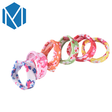 1Pack=12Pcs Children Lovely Rubber Scrunchy Perfect Quality Elastic Hair Band Girls Fashion Print Gum for Hair Rope Accessories