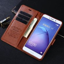 Brand AZNS For Huawei Honor 6X Case Luxury PU Leather Wallet Soft Silicon Flip Cover Phone Bags Cases for Huawei Honor 6 X