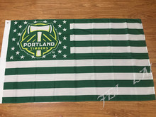 PORTLAND TIMBERS stripe Banner Bandera USA Soccer MLS Flag 3x5FT Custom Flag 90x150cm white sleeve with 2 Metal Grommets(China)