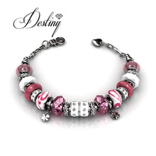 Destiny Jewellery Swarovski elements Embellished with crystals from Swarovski bracelet Charm bracelets 3 colors bracelets DB0077