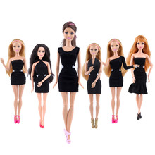 Girl's Favorite!! 2pcs/lot Random Delivery Fashion Black Occupation Dress Doll Accessories Cloth For 11.5 Inches Doll(China)
