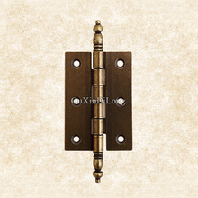 Top Designed 2PCS Metal Door Butt Hinges European Antique Furniture Hinges Cupboard Drawer Cabinets Kitchen Pulls Door Hinges(China)
