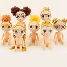 11cm 2pcs naked cake dolls,toys for girls kids,pretty cute lovely face princess,cheap price good looking gift birthday cake use