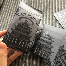 Waterproof PVC Poker High Quality Black diamond Plastic Playing Cards Novelty Collection Board Game Gift(China)
