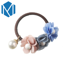 M MISM Simulated Pearls Hair Rope Band Elastic Hairband Flower Women Scrunchy Headband Girls Floral Gum for Hair Accessories(China)