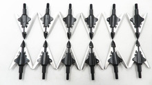 Hunting broadhead 12pcs arrow tips stainless steel archery arrowhead 100grain fit compound bow