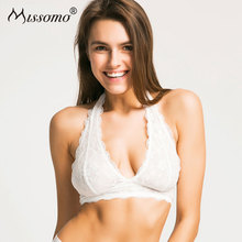 Buy Missomo Women Bra Lace Seamless New Fashion Lace Sexy Push Bralette Semi-sheer Underwear Halter Lingerie
