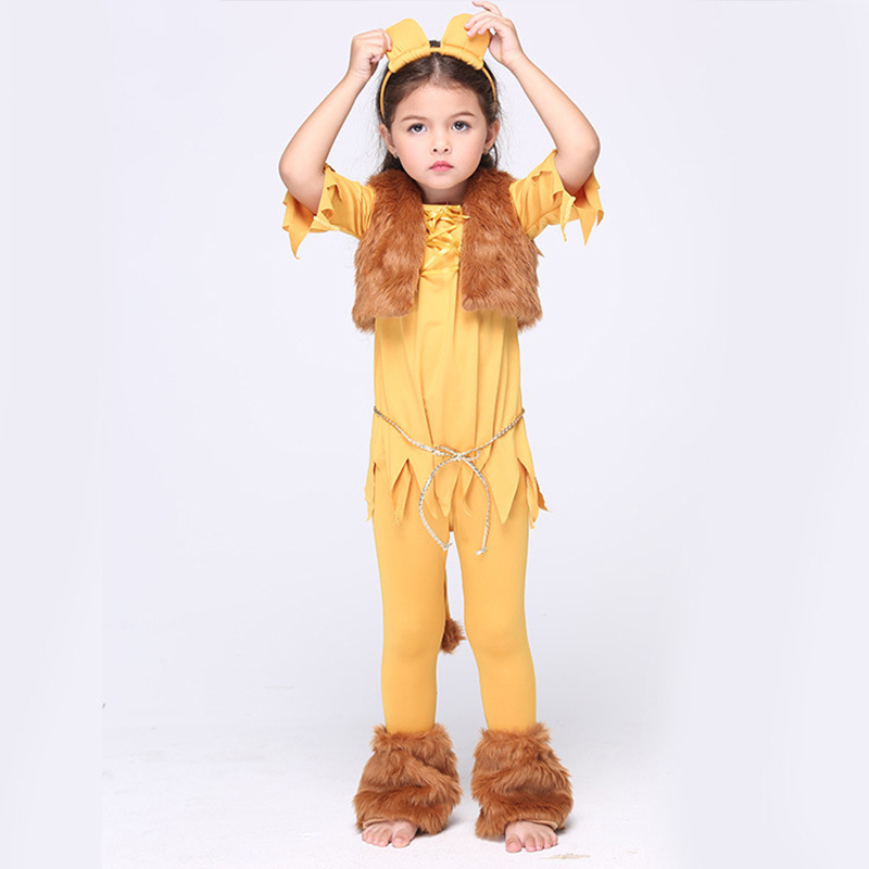 Halloween Cosplay leopard Baby Clothing Skirt 6pcs Dance show Children Set Autumn short Sleeve Infant Girls Clothes for Part<br>