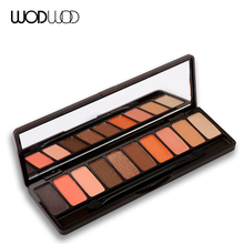 Wodwod Brand 10 Coffee Colours Eye Shadow Palette Set Play Color Eyes Makeup Earth Eyeshadow Matte Glitter Powder Make Up Brush