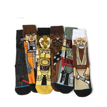 Sale Hot Star Wars Autumn And Winter New Cartoon Funny Men Socks Stockings Planet Battle Vader Socks Happy Men's Socks Meias(China)