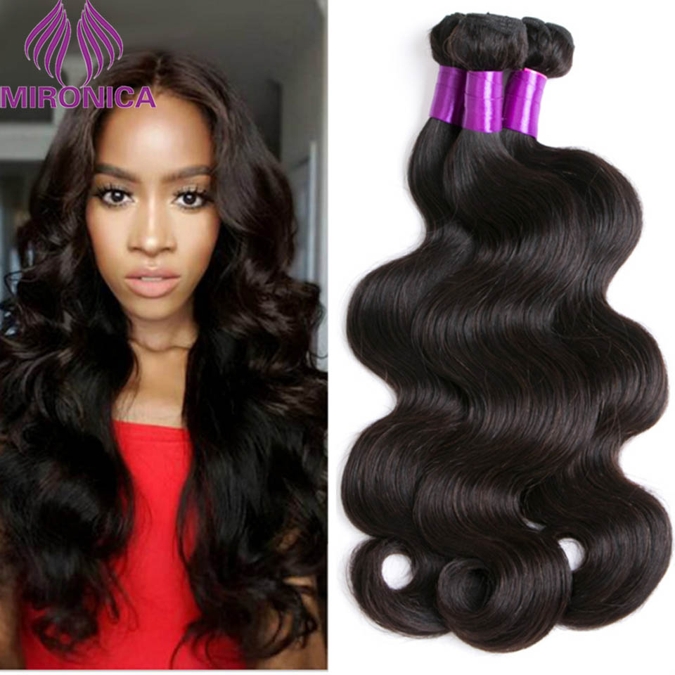 Mironica Peruvian Virgin Hair Body Wave 4 pcs Peruvian Virgin Hair Bundle Deals Natural Black Color Human Hair Weave Extensions<br><br>Aliexpress