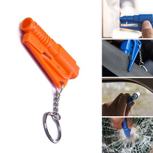3 In 1 Portable Car Safety Hammer Window Glass Breaker Hammer Glass Cutter Emergency Hammer Mini Rescue Self-Help Car Tools
