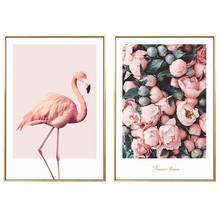 Nordic Poster Pink flamingo print canvas painting Decoration Painting Home Decor On Canvas Modern Wall Prints art work no frame(China)