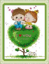 Дерево любви DMC Китайская вышивка крестом ребенка DIY рукоделие 14CT 11CT Счетный Китай вышивки крестом Наборы для Вышивка ремесла хобби(China)