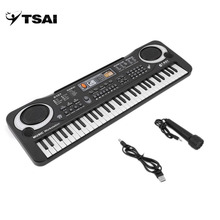 Russia Multifunction and Delicate 61 Keys Digital TSAI Music Electronic Keyboard Board Toy Gift Electric Piano Organ for Kids