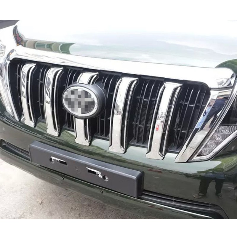 ABS Chrome Front Grill Cover Car Sticker Suitable for Toyota Prado 2700 2014-2016 Car Styling Accessories<br>