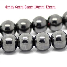 Wholesale Black Round nomagnetic Hematite Beads 10mm 6mm 8mm 4mm Spacer beads for jewelry making bracelet