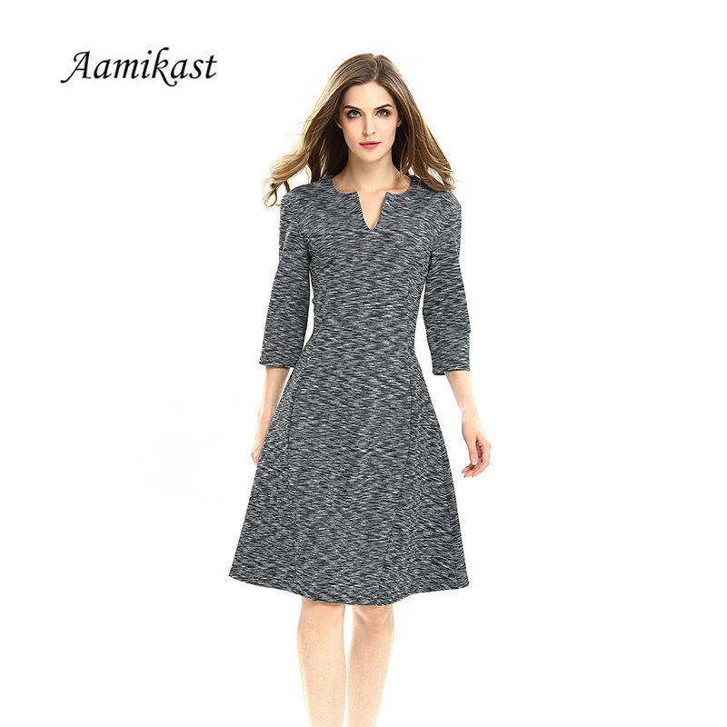 Aamikast 2017 Vintage Elegant Dress Women A-Line Sexy Womens Summer Dresses Plus Size Work Feminino Vestidos 4XL