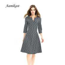 Buy Aamikast 2017 Vintage Elegant Dress Women A-Line Sexy Womens Summer Dresses Plus Size Work Feminino Vestidos 4XL for $13.79 in AliExpress store