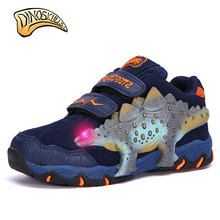 Dinoskulls 2017 Autumn Children Shoes Boys Sneakers Sport Shoes Leisure Casual Breathable Kids Running Shoes 3D Dinosaur(China)