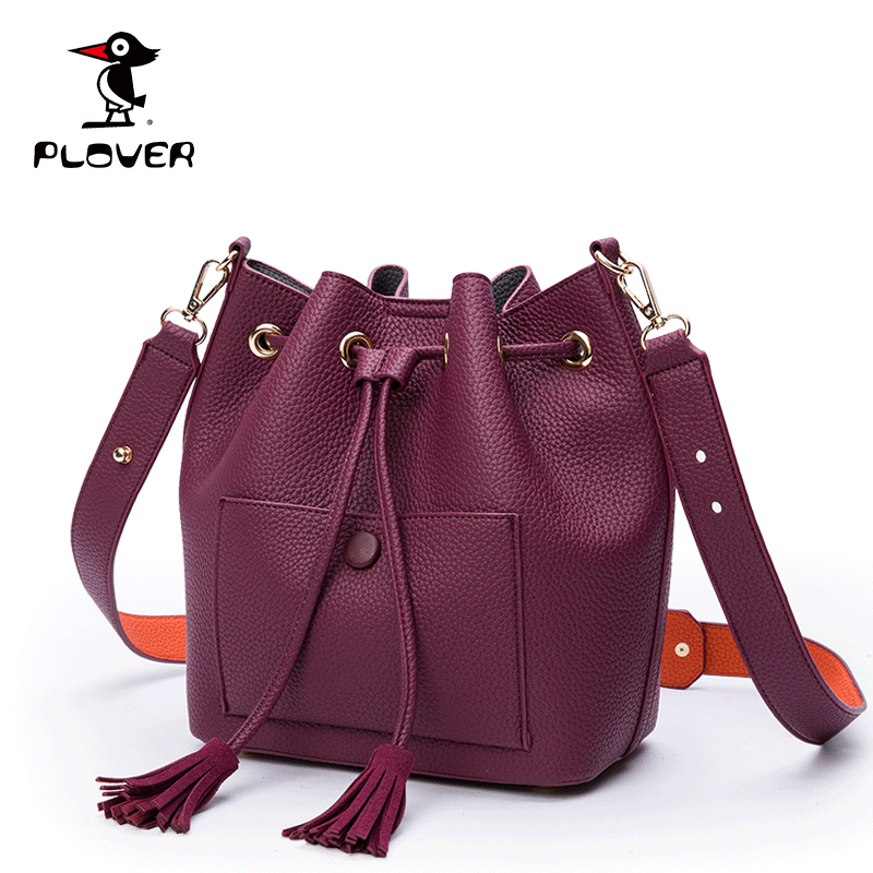 Plover 2 Bags Set Women Bags Designer Ladies Leather Crossbody Bucket Bags Tassel High Quality Luxury Handbags Michael Style(China (Mainland))