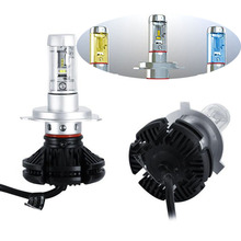 X3 H1 H3 H4 H7 H8 H11 9005 9006 H13 Car LED Headlights Bulbs 50W 6000LM Chips All in one CSP LED Headlamp 3000K 6500K 8000K D0(China)