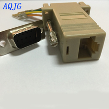 1pcs RS232 DB9 male to RJ45 Female connector Adapter RJ45 to DB9 RS232 com LAN TO 232 db9 RS232 to RJ45 AQJG(China)