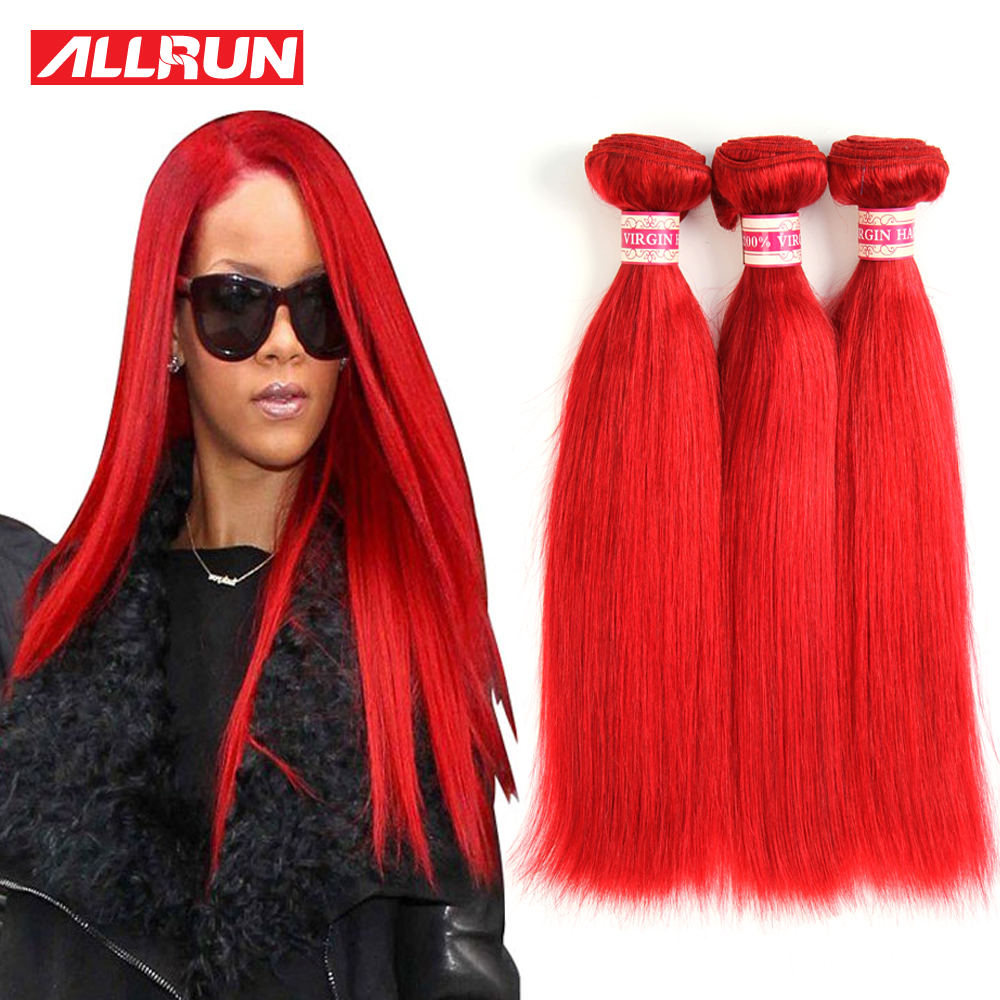 7A Red Brazilian Hair Weave Bundles Brazilian Virgin Hair Straight Red Color Human Hair 3 Bundles Brazilian Straight Virgin Hair<br><br>Aliexpress