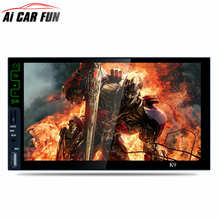 Universal 7-inch Quad-core Android 5.1 Bluetooth HD MP5 Player 3G Wifi Connect GPS Navigation Mirror Link AM/FM/RDS Radio Tuner(China)