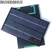 BUHESHUI 1.9W 5V Mini Polycrystalline Solar Panel Small Resin Solar Cell Solar Module142*88*3MM 30pcs Wholesale Free Shipping(China)