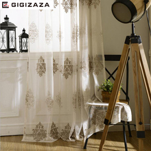 Mrs John white jaquard voile curtains for livingroom rod pocket tulle drape transparent window sheer  process  size