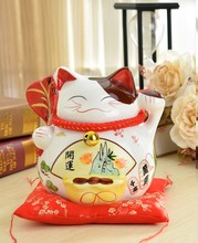 Crafts Arts Home decoration Lucky Cat piggy piggy large ceramic ornaments shops opened a Home Furnishing birthday gift ideas
