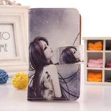ABCTen Colored Drawing PU Leather Flip Design Cell Phone Protection Case For Texet x-navi tm 4672 Card Holder