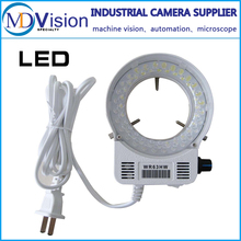 Adjustable 6500K 144 LED Ring Light illuminator Lamp For Industry Stereo Microscope Lens Camera Magnifier 110V-240V Adapter