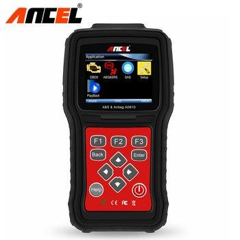 Original Ancel AD610 ABS SRS Airbag Airbag Crash Data Reset Scanner Automotriz Herramienta de Diagnóstico Del Coche OBD2 Escáner de Dhl