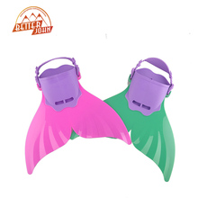 Cute Kid Children Swimming Fins Mermaid Swim Fin Swimming Foot Flipper Training Shoes Tail Diving Feet Tail Monofin 2 Color(China)