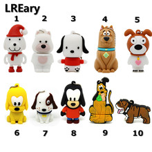 all kinds of Lovely Cartoon pet dog usb flash drive memory stick pen drive pendrive 4GB 8GB 16GB 32GB creative gift(China)