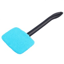 Car Washer Brush Microfiber Windshield Cleaner Long Handle Dust Car Care Windshield Shine Towel Handy Washable Car Cleaning Tool