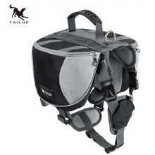 TAILUP luxury Pet Outdoor Backpack Large Dog Adjustable Saddle Bag Harness Carrier For Traveling Hiking Camping(China)