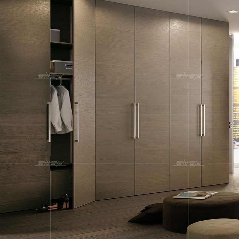 Modern Fancy Simple Design Melamine Wooden Wardrobe Custom Made