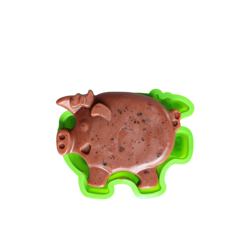 big pig silicone cake mold bakeware set silicone moulds for cake decorations(China)