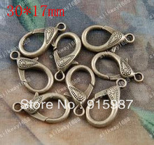 Sweet Bell 50PCS/lot 30*17mm button jewelry bags wholesale lobster clasp design restoring ancient ways lobster clasp
