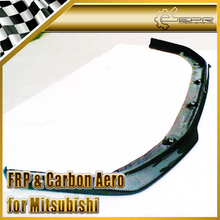 New FOR Mitsubishi Evolution EVO 10 X Carbon Fiber Ralliart Style Front Bumper Front Lip Splitter
