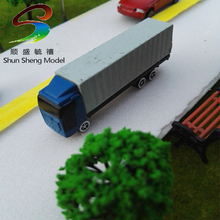 10pcs/lot 8cm Container Truck Model Toy Trailer Truck Plastic Model Kit 1:150 scale Truck Car
